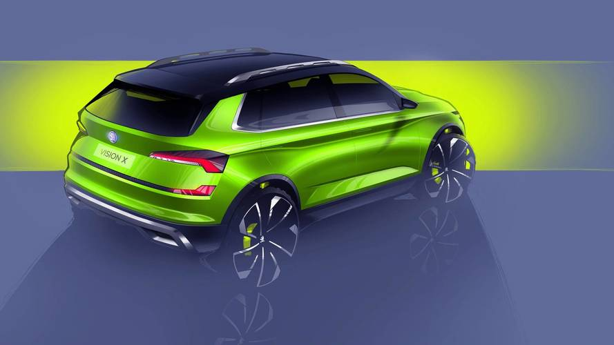 Skoda Vision X Concept revealed, CNG hybrid drivetrain for small SUV