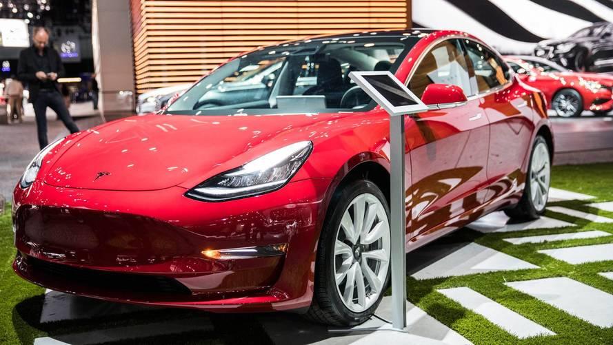 Tesla Model 3 Now On Display In Showrooms