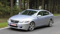 First spy shots of next-generation Lexus GS