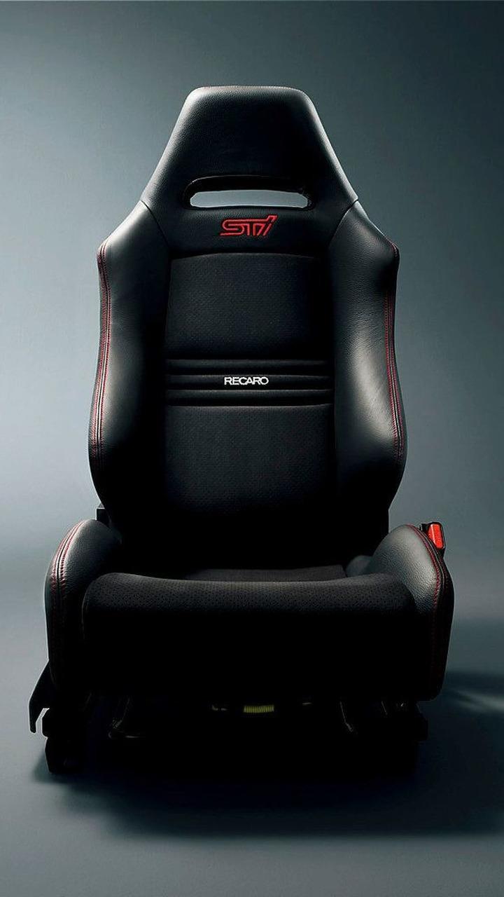 Subaru Impreza WRX STI spec C RECARO seats - fabric with red stitch