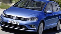 2015 Volkswagen Touran speculatively rendered