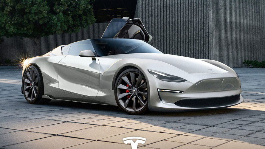 Tesla Roadster recreación