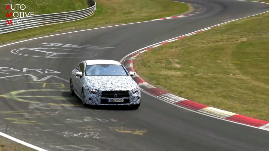 2018 Mercedes CLS screenshots from spy video