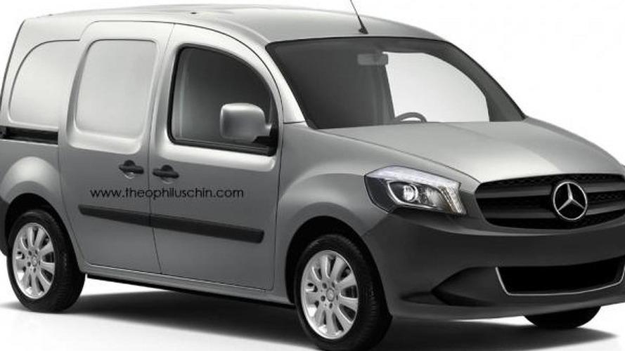 Mercedes-Benz Citan rendered plus latest spy photos
