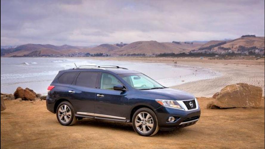 Nuova Nissan Pathfinder, foto e video dagli USA