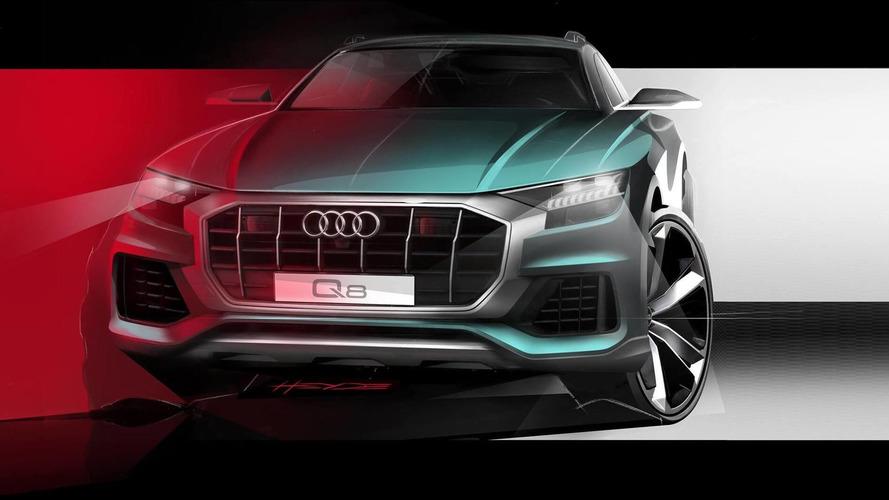 Audi Q8 official teaser reveals aggressive front end
