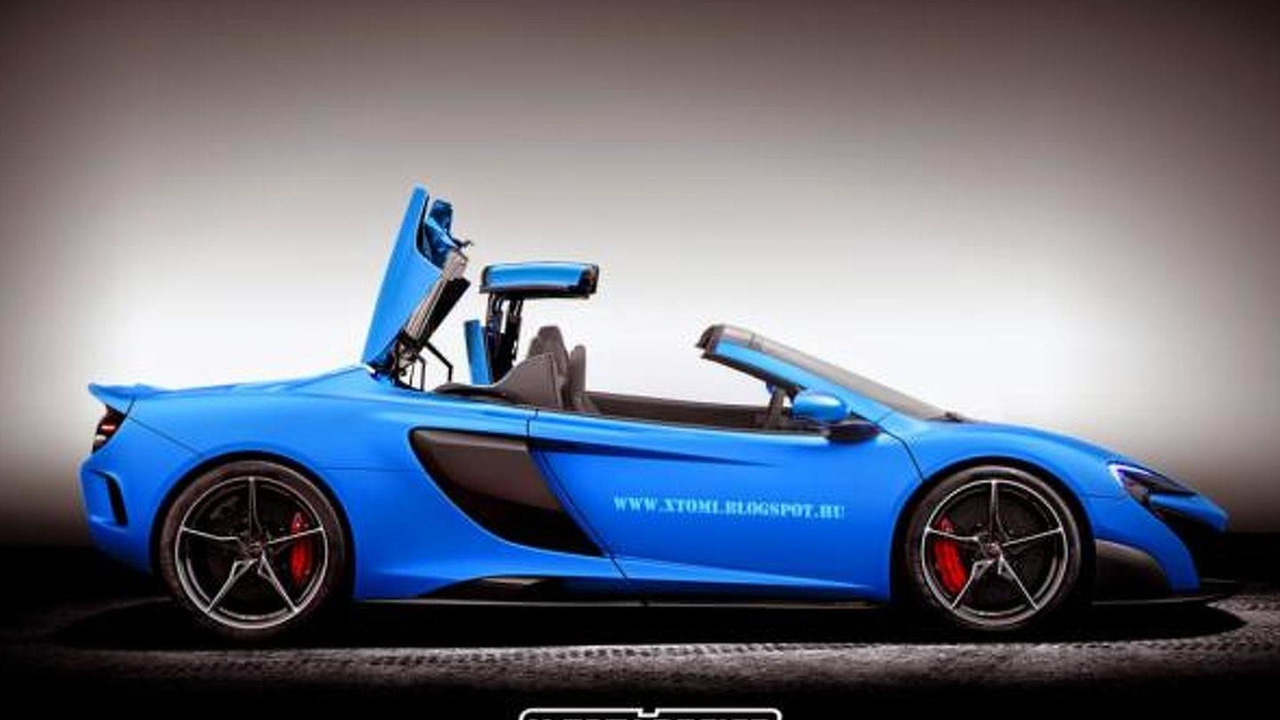 McLaren 675LT Spider render