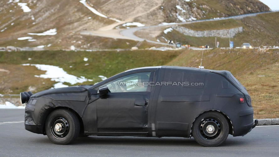 SEAT crossover chassis testing mule spied in the Alps