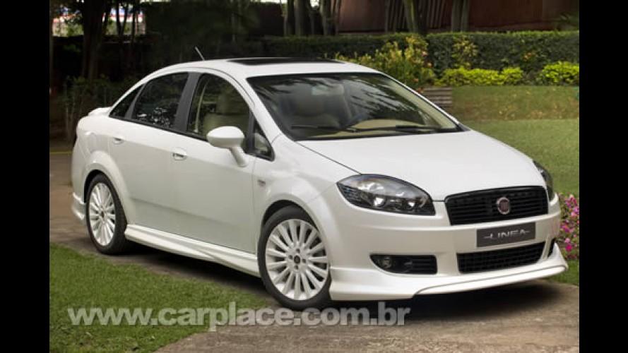 Salão do Automóvel 2008 - Fiat apresenta o personalizado Linea Monte Bianco