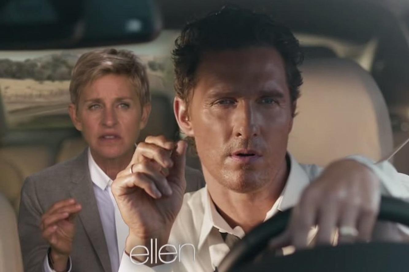 Ellen Parody of McConaughey Lincoln Ad Better Than Original  [Video]