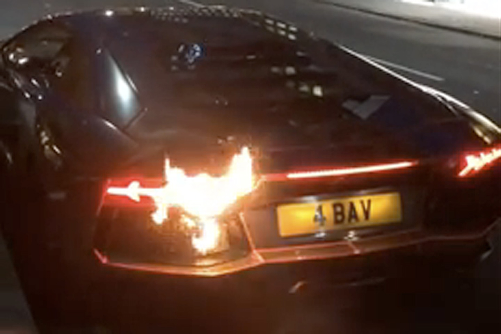 Watch A Lamborghini Rev Until It Catches Fire