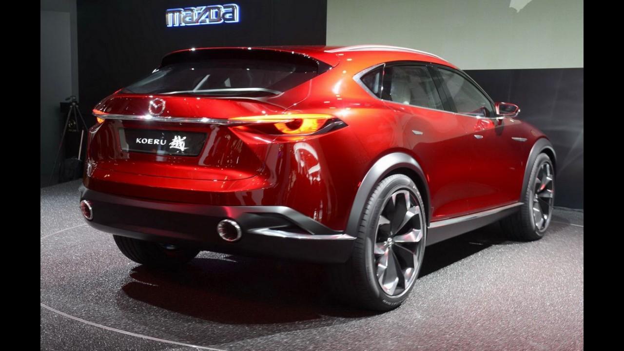Mazda divulga primeira imagem do crossover CX9, que estreia em Los Angeles