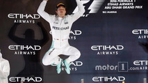 Podium: second place and new world champion Nico Rosberg, Mercedes AMG F1