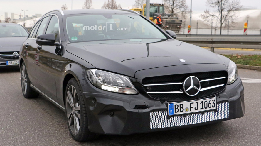 2018 Mercedes C-Class facelift spy photos