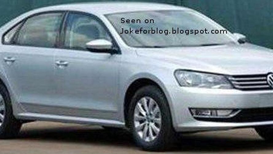 Volkswagen New Midsize Sedan spied uncovered