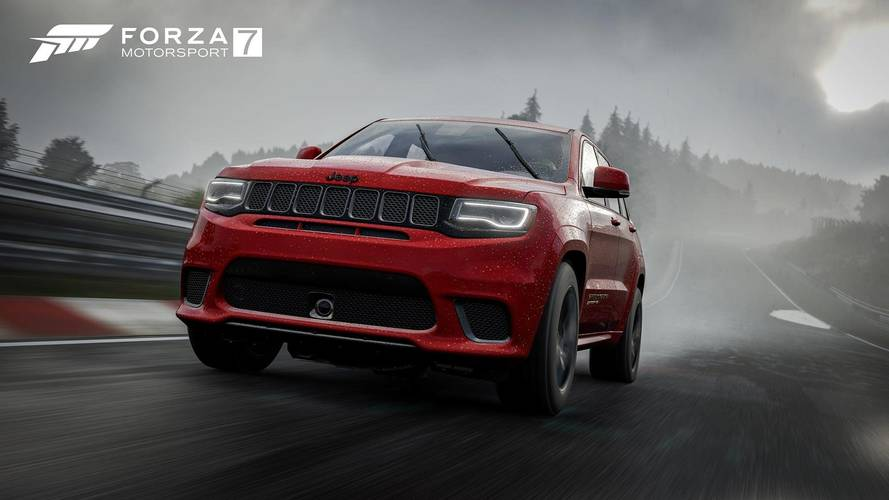 Jeep Grand Cherokee Trackhawk Joins Forza 7 With Doritos Car Pack