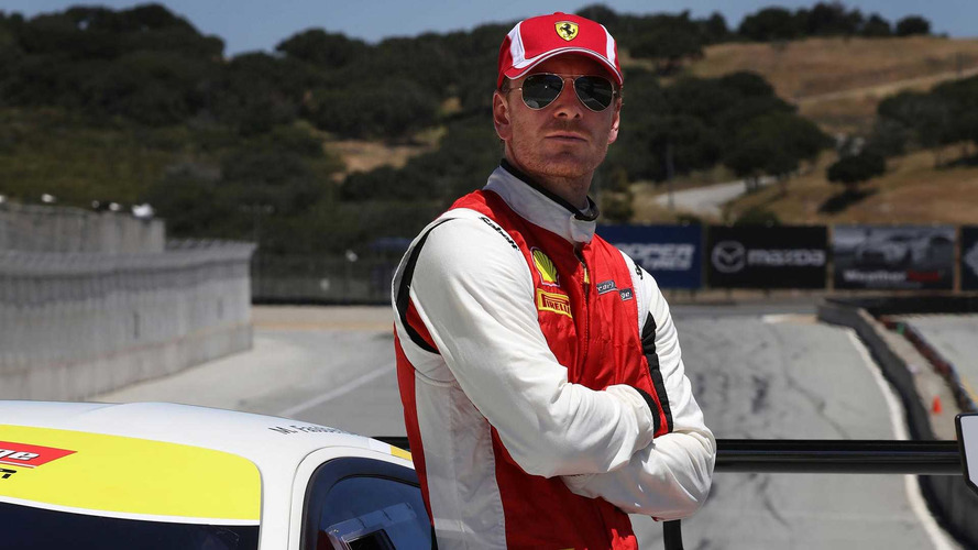 Actor Michael Fassbender Races A Ferrari