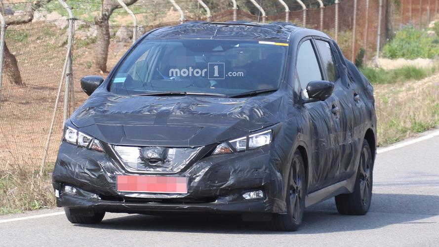 2018 Nissan Leaf şık tasarımını ilginç kamuflajla gizliyor