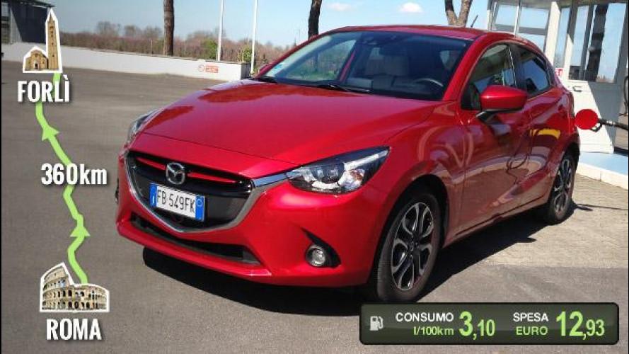 Mazda2 1.5 benzina, la prova dei consumi reali
