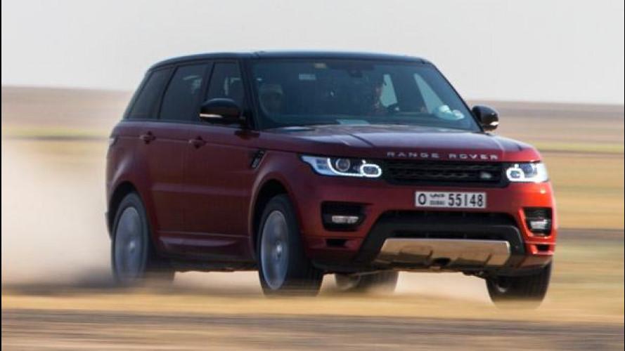 Nuova Range Rover Sport, record nel deserto