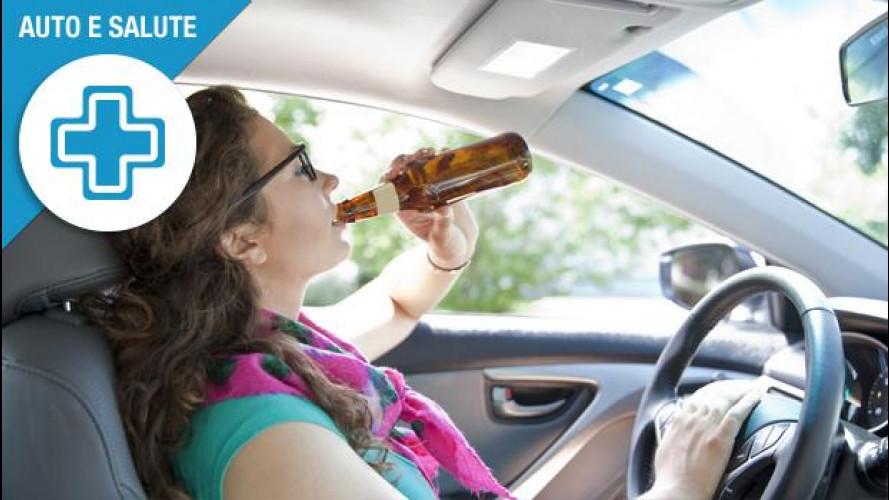 Alcol in auto, attenzione a quello passivo