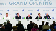 Grand Opening of the new Volkswagen plant at Chattanooga, Frank Fischer, Dr. Michael Macht, Dr. Klaus Scharioth, Bill Haslam and Jonathan Browning, 25.05.2011