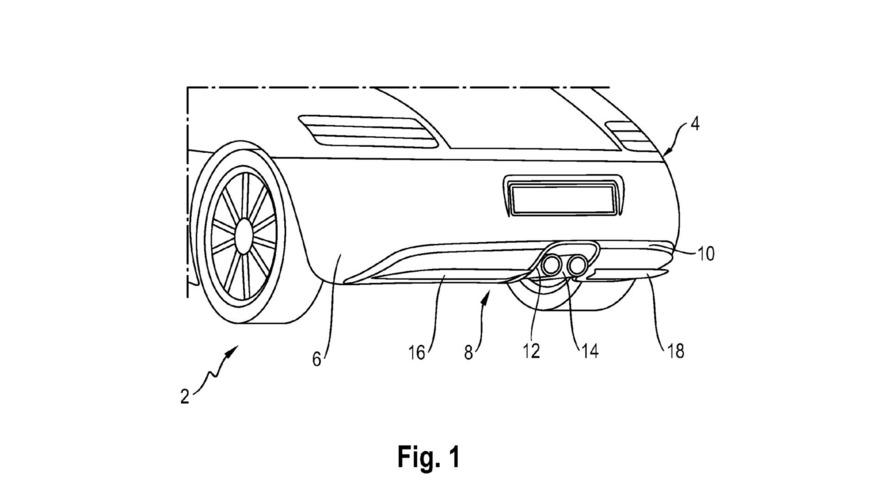 Porsche Adaptive Rear Diffuser Patent