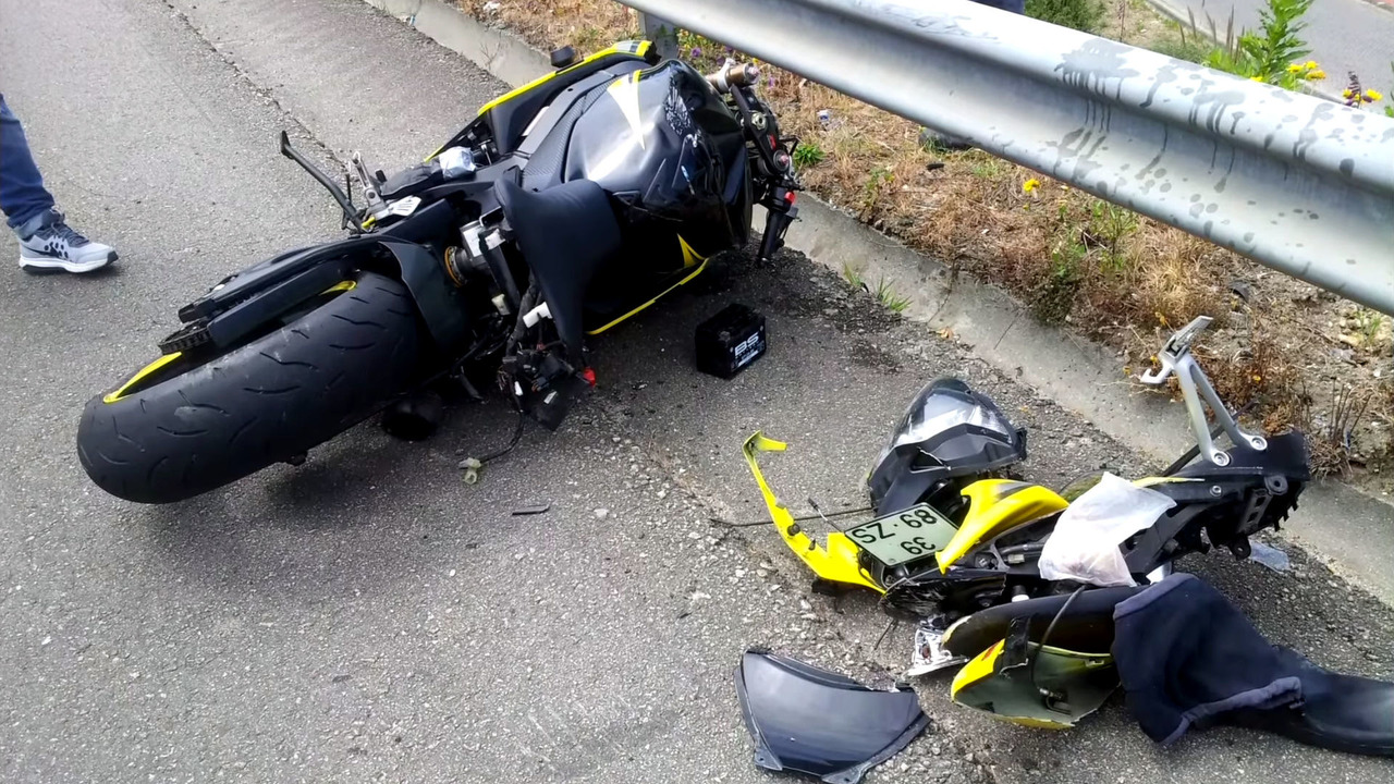 Rider Crash Lands On Roof