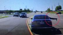 Man Jumping Into Car