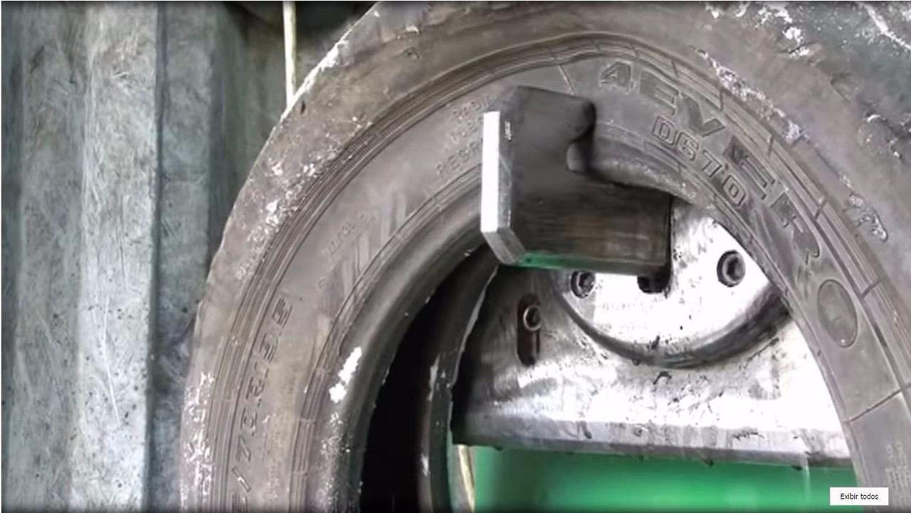 Tire recycling machines