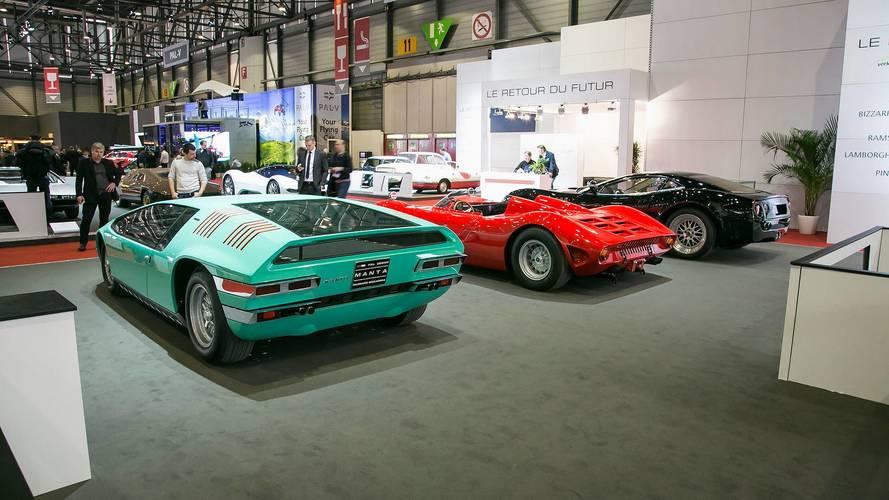 Bizzarrini Manta (verde), P538 (rojo) y GTS (azul)