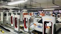 Tesla Supercharger in Shanghai