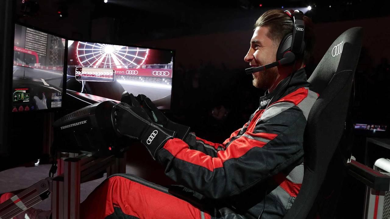 Segio Ramos sur simulateur de Formule E