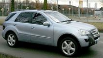 Mercedes M Class Facelift Spied