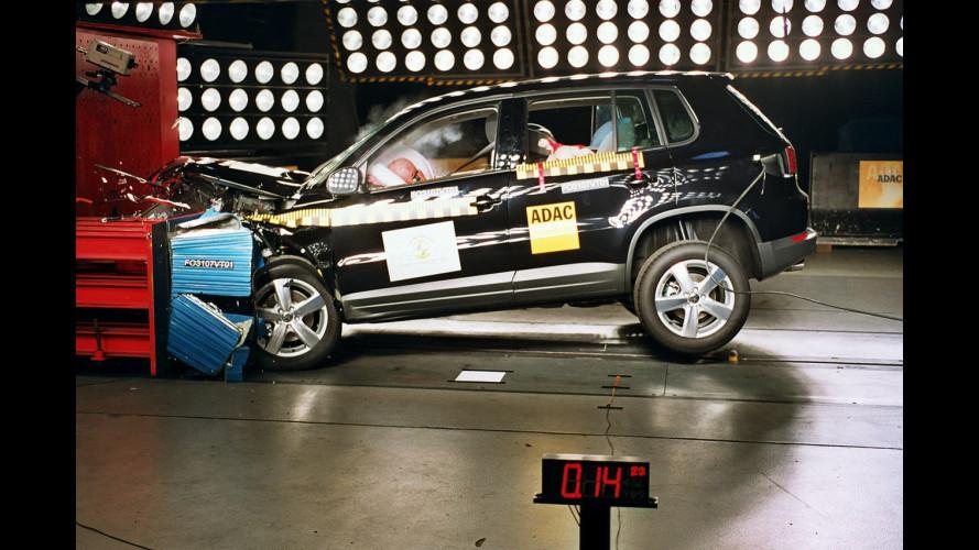 Volkswagen Tiguan: 5 stelle EuroNCAP