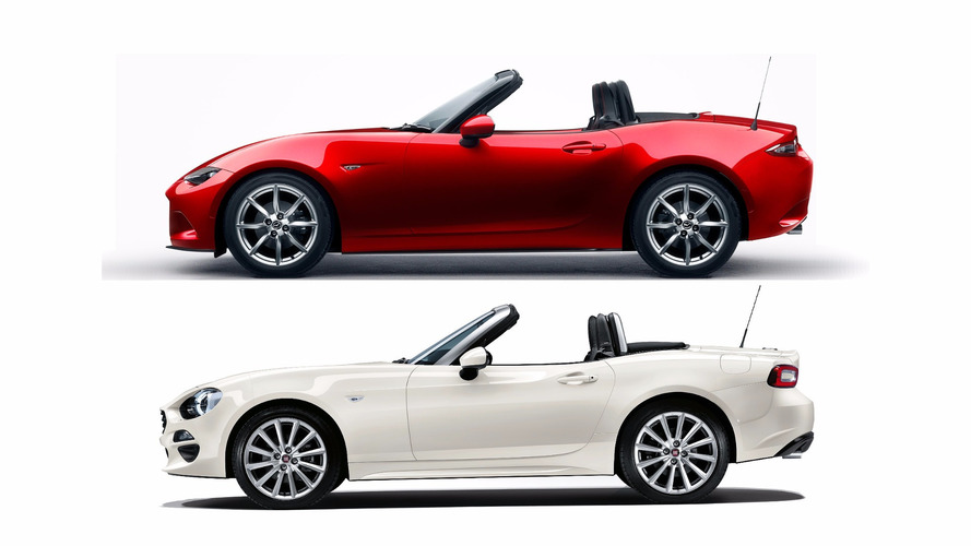 fiat 124 spider and mazda miata in shockingly tight sales race. Black Bedroom Furniture Sets. Home Design Ideas