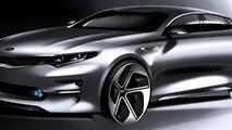 2016 Kia Optima teased ahead of New York Auto Show reveal
