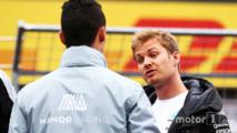 Pascal Wehrlein, Manor Racing and Nico Rosberg, Mercedes AMG F1