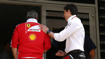 Toto Wolff, Mercedes GP Executive Director and Maurizio Arrivabene, Ferrari Team Principal
