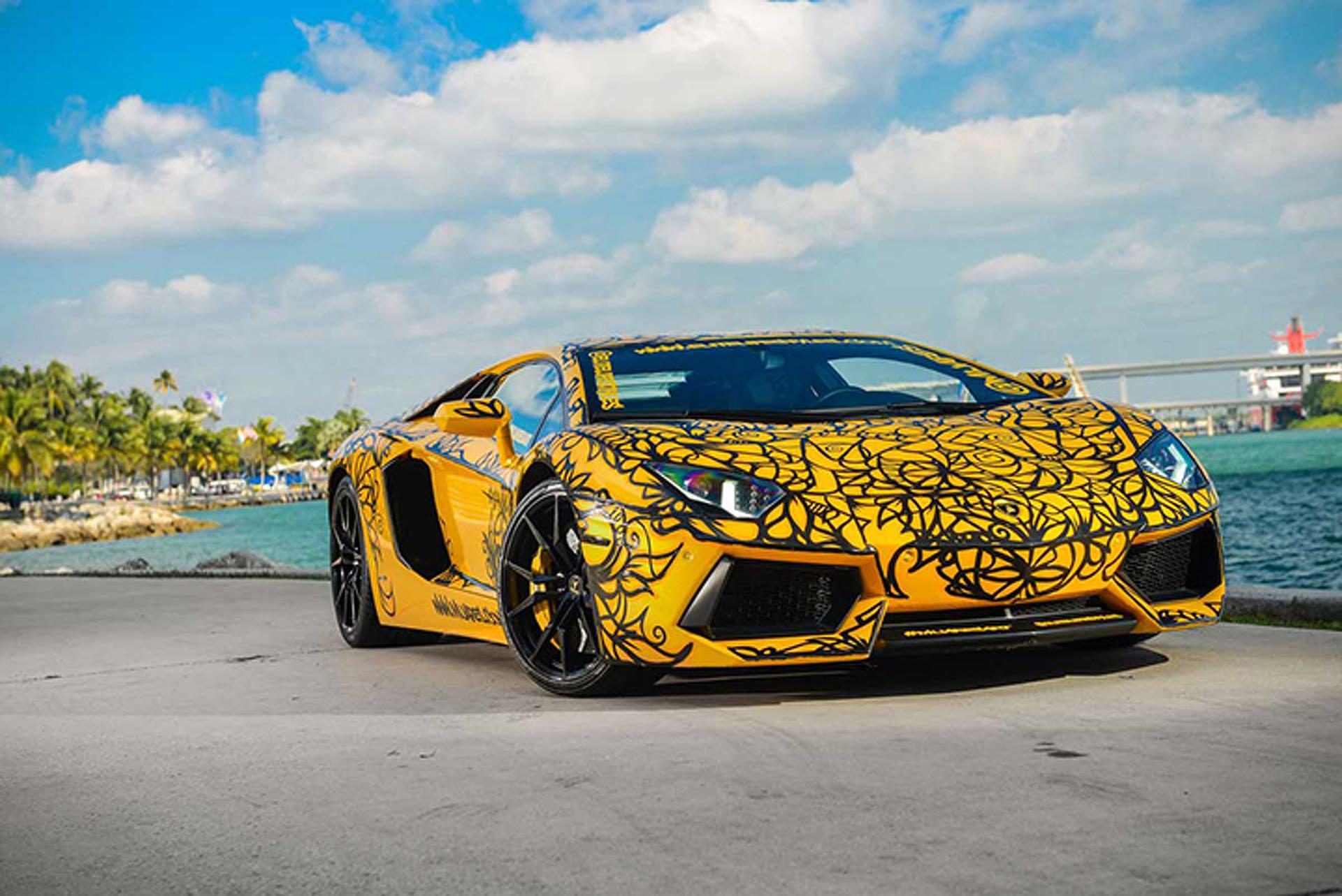 Painted Supercars Star At Miami S Art Basel