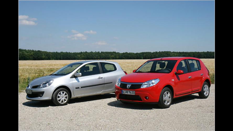 Zwei aus gleichem Holz: Dacia Sandero gegen Renault Clio