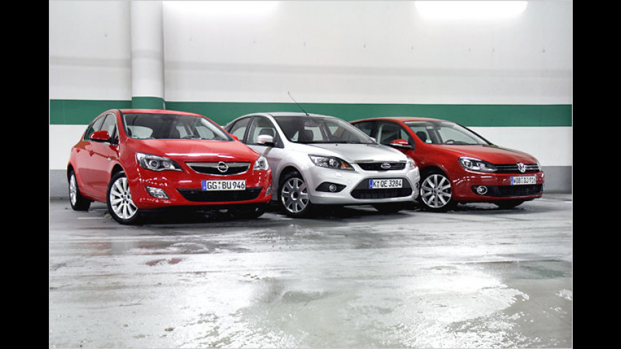 Kompaktvergleich: Ford Focus, Opel Astra und VW Golf