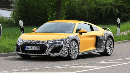Audi R8 Spied With Revised Face And Massive Oval Exhaust Tips