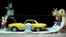 Mercedes modern classics featured in creepy fashion art installation