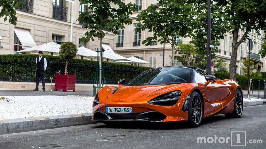 PHOTOS - La nouvelle McLaren 720S déjà surprise à Paris!