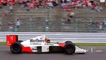 Vandoorne au volant de la McLaren-Honda de 1989 d'Alain Prost