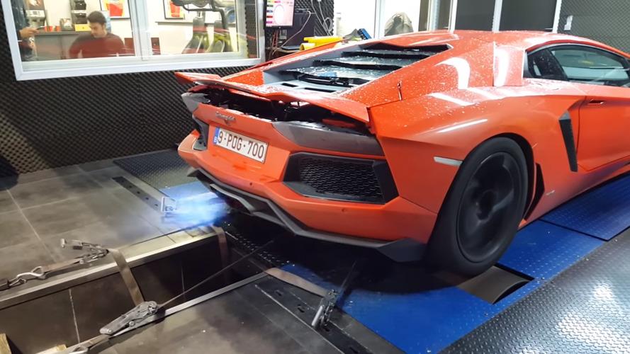 VIDÉO – Une Lamborghini Aventador poussée aux limites sur le banc d'essai
