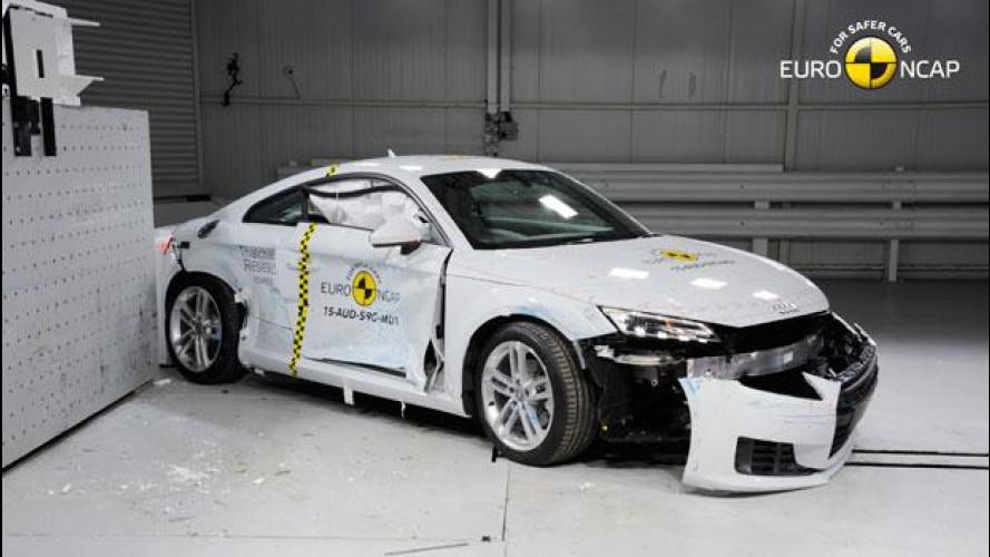 Nuova Audi TT Coupé, quattro stelle Euro NCAP con le nuove regole
